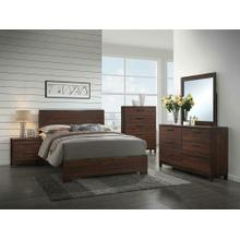 Edmonton Transitional Rustic Tobacco Queen Five-piece Set