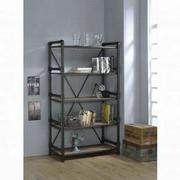 ACME Caitlin Bookshelf - 92220 - Rustic Oak & Black Product Image