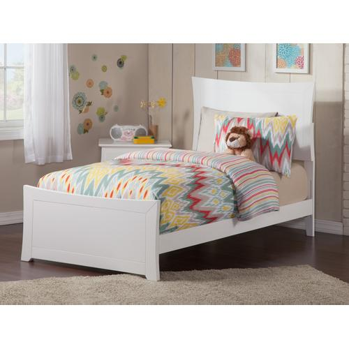 Metro Twin Bed with Matching Foot Board in White