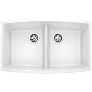 Performa Equal Double Bowl - White