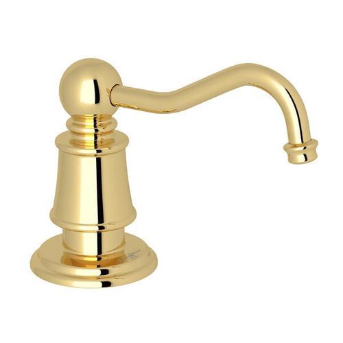 Georgian Era Deck Mount Soap Dispenser - Unlacquered Brass