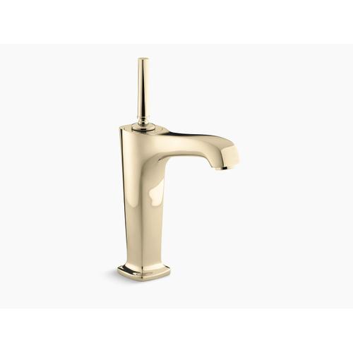 """Vibrant French Gold Single-hole Bathroom Sink Faucet With 6-3/8"""" Spout and Lever Handle"""