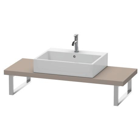 Console For Above-counter Basin And Vanity Basin Compact, Basalt Matte (decor)