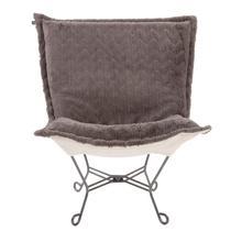 See Details - Scroll Puff Chair Angora Stone