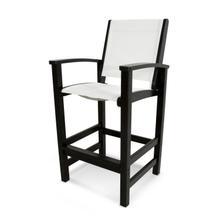 Black & White Coastal Bar Chair
