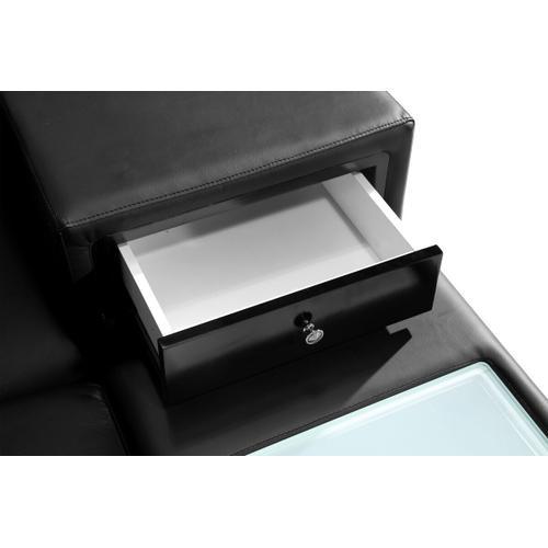 VIG Furniture - Divani Casa Polaris - Contemporary Black Bonded Leather U Shaped Sectional Sofa with Lights