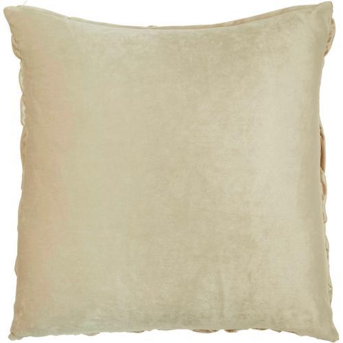"Life Styles L0064 Beige 22"" X 22"" Throw Pillow"