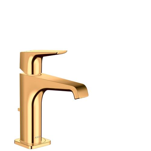 Polished Gold Optic Single lever basin mixer 130 with lever handle and pop-up waste set