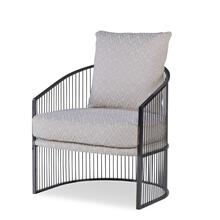 See Details - Ruffalo Black Nickel Barrel Chair