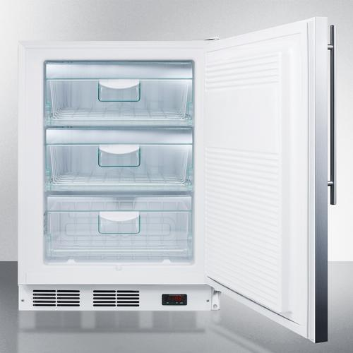 ADA Compliant Commercial Built-in Medical All-freezer Capable of -25 C Operation, With Wrapped Stainless Steel Door and Thin Handle