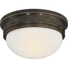 E. F. Chapman Marine 2 Light 13 inch Bronze Flush Mount Ceiling Light
