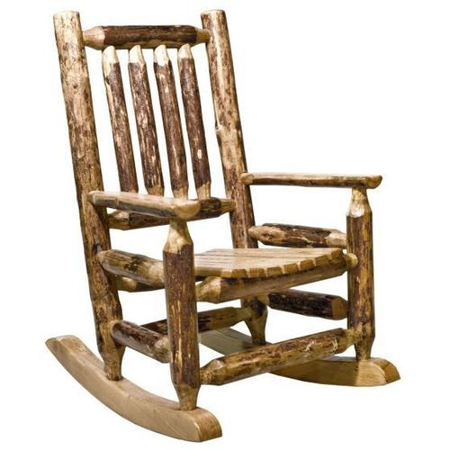 Montana Woodworks - Glacier Country Collection Log Childs Rocker