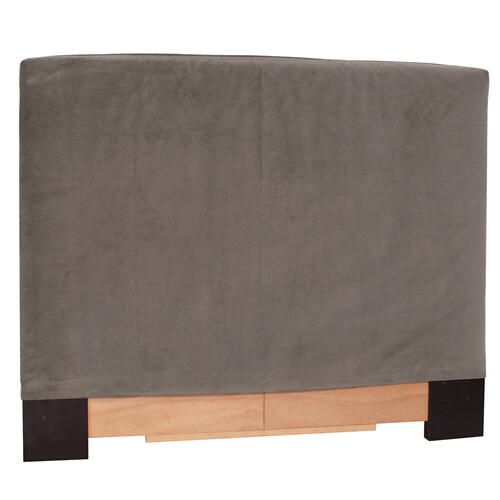 FQ Slipcovered Headboard Bella Pewter (Base and Cover Included)