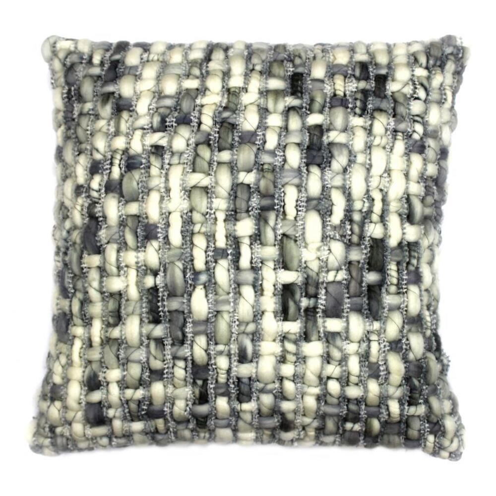 See Details - Cozy Feather Cushion Light Grey 20x20