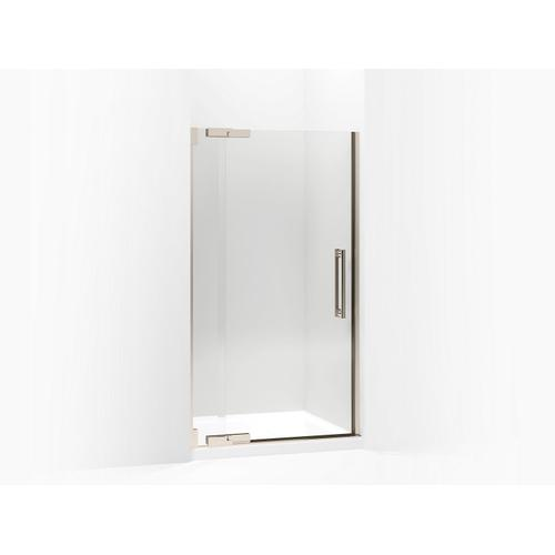 "Crystal Clear Glass With Anodized Brushed Bronze Frame Pivot Shower Door, 72-1/4"" H X 39-1/4 - 41-3/4"" W, With 1/2"" Thick Crystal Clear Glass"