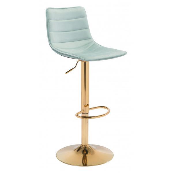 Prima Bar Chair Light Green & Gold