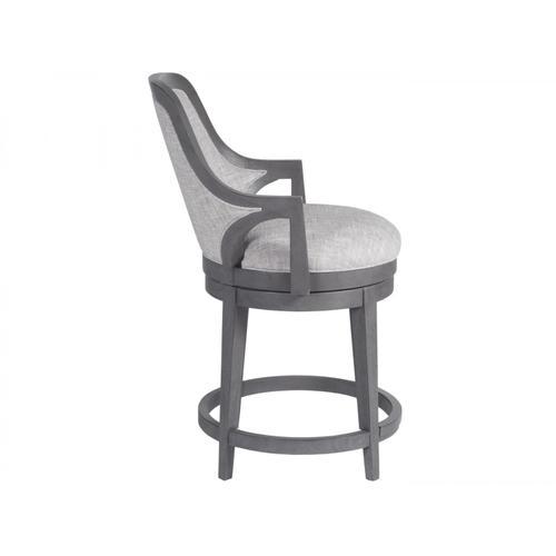 Appellation Upholstered Swivel Counter Stool