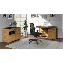 See Details - Sequel 20 6103 Compact Desk in Walnut Satin Nickel