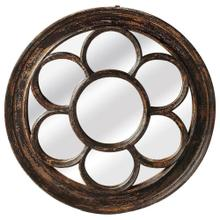 See Details - This daisy shaped reclaimed wood mirror adds playful yet elegant dimension to the wall. Place in your room for an art aesthetic, place it in your hall or entry way for a quick once over before you leave your home for your busy day.Round mirrors are excell