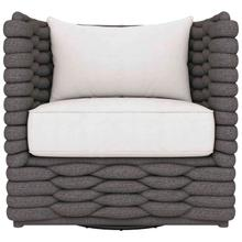 See Details - Wailea Swivel Chair in Knitted Sock Weave in Cadet Gray