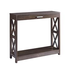 See Details - Console Table - Walnut Oak