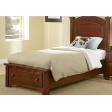 View Product - Panel Bed with Storage Footboard Twin & Full