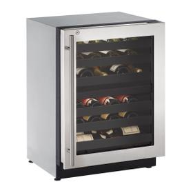 """2224zwc 24"""" Dual-zone Wine Refrigerator With Stainless Frame Finish and Right-hand Hinge Door Swing (115 V/60 Hz Volts /60 Hz Hz)"""
