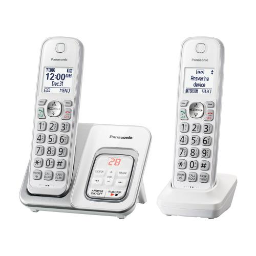 Expandable Cordless Phone with Call Block and Answering Machine - 2 Handsets -KX-TGD532W