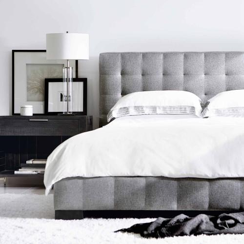 King-Sized LaSalle Upholstered Bed in Cinder
