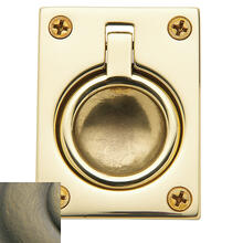 Satin Brass and Black Flush Ring Pull