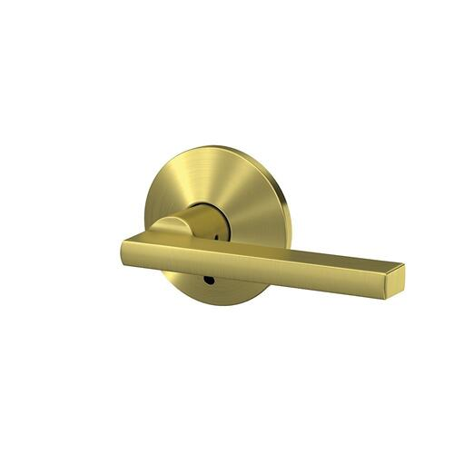 Custom Latitude Lever with Kinsler Trim Hall-Closet and Bed-Bath Lock - Satin Brass