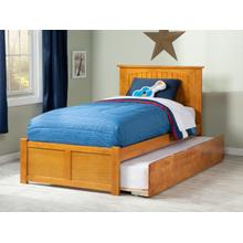 Nantucket Twin Flat Panel Foot Board with Urban Trundle Bed Caramel Latte