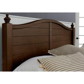 Post Arched Bed with Low Profile Footboard