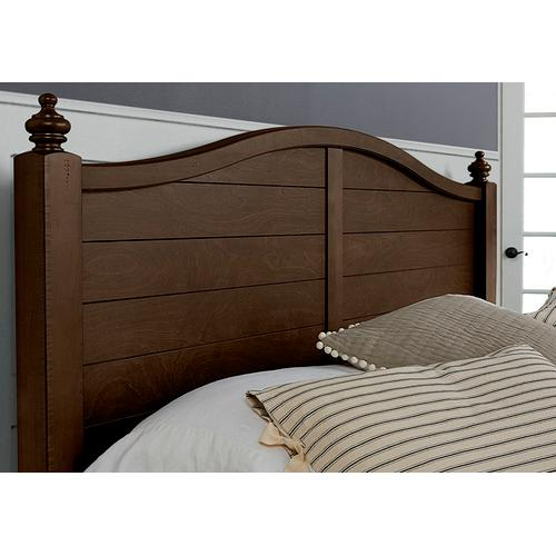 Post Arched Bed with Post Plank Footboard
