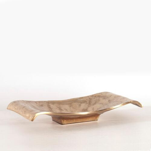 Howard Elliott - Gold Scrolled Metal Tray / Wall Art - Small