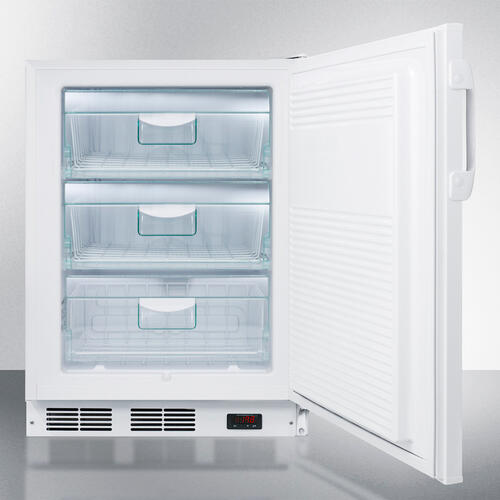 Product Image - Commercial Freestanding Medical All-freezer Capable of -25 C Operation, With Removable Basket Drawers, Lock, and 32 Height for ADA Counters