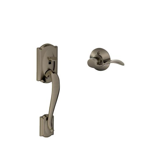 Schlage - Camelot Front Entry Handle and Accent Lever - Matte Black