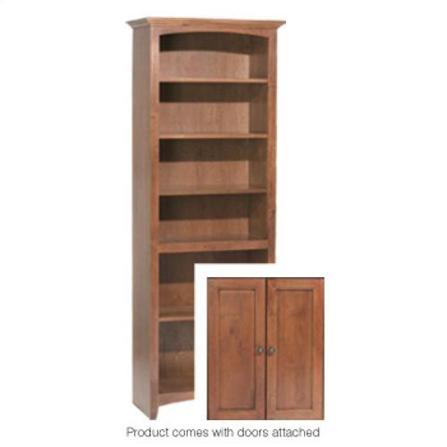 """GAC 72""""H x 24""""W McKenzie Alder Bookcase w/doors"""
