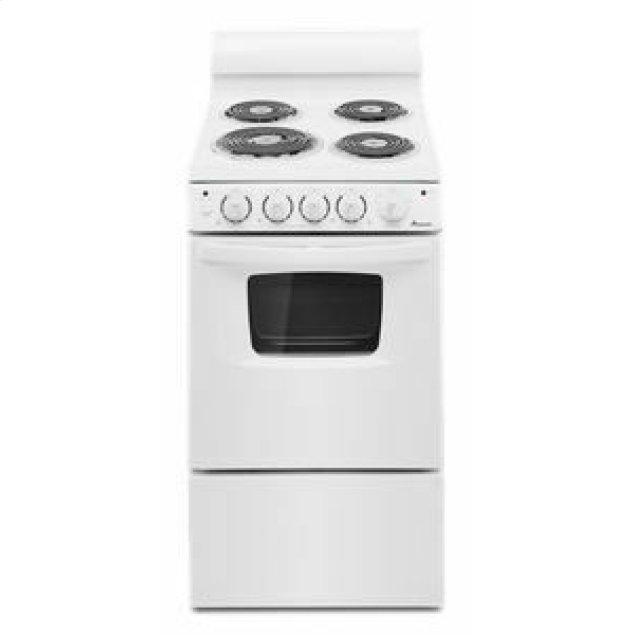 Amana 20-inch Electric Range Oven with Versatile Cooktop - White