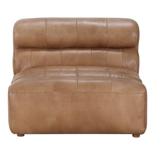 Moe's Home Collection - Ramsay Leather Slipper Chair Tan