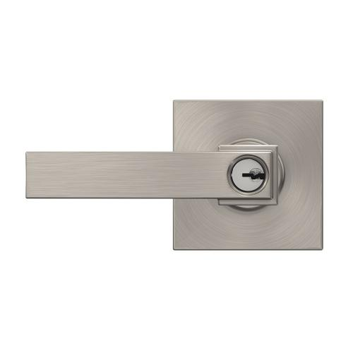 Northbrook lever with Collins trim Keyed Entry lock - Satin Nickel