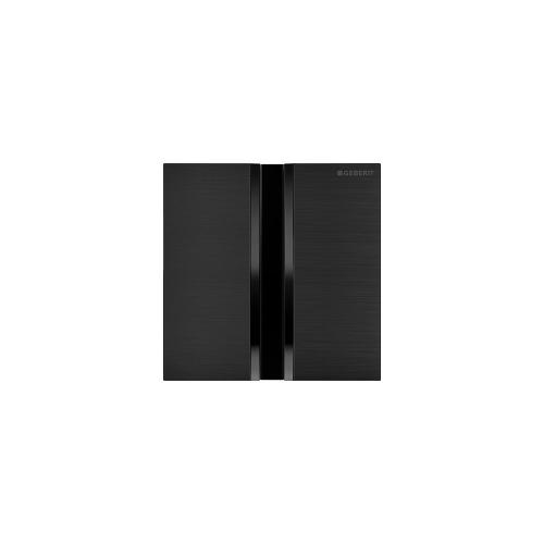 Type 50 Flush plates for in-wall urinal systems Brushed PVD Black Chrome Finish