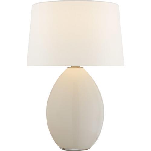 Visual Comfort - Chapman & Myers Myla 27 inch 100.00 watt White Glass Table Lamp Portable Light, Medium