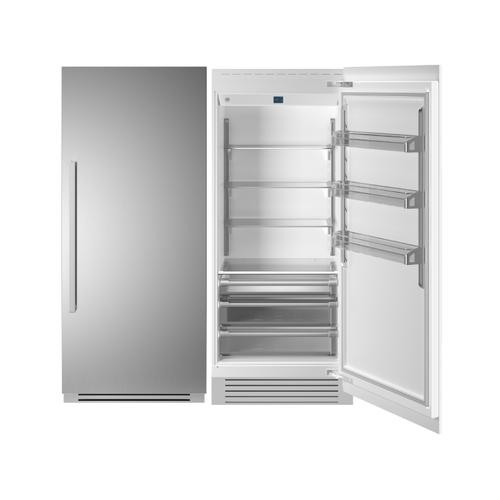 "36"" Built-in Refrigerator column - Stainless - Right hinge"