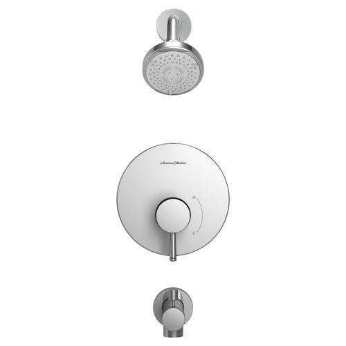 Serin Water-Saving Bathtub and Shower Fittings with Pressure Balance Cartridge  American Standard - Polished Chrome