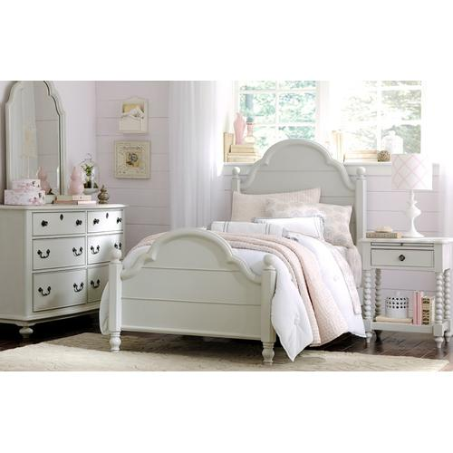 Product Image - Inspirations by Wendy Bellissimo - Morning Mist Westport Low Poster Bed T 3/3
