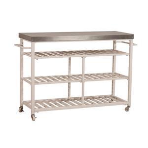 Gallery - Kennon 3 Piece Kitchen Cart Set - Stainless Steel