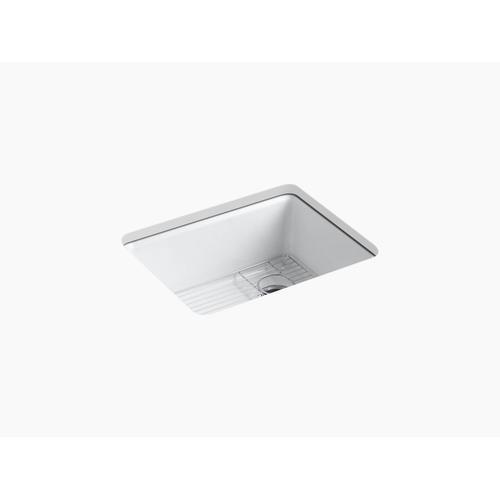 "Sea Salt 25"" X 22"" X 9-5/8"" Undermount Single-bowl Kitchen Sink With Rack"