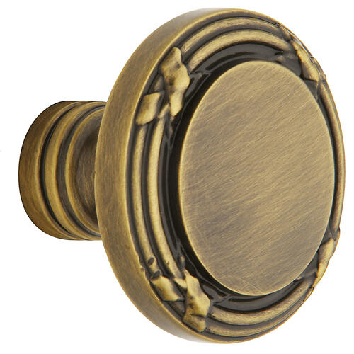 Satin Brass and Black 5013 Estate Knob