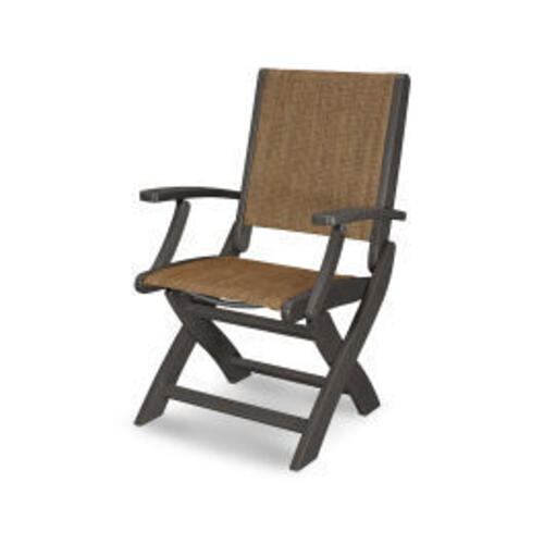 Coastal Folding Chair in Vintage Coffee / Chateau Sling